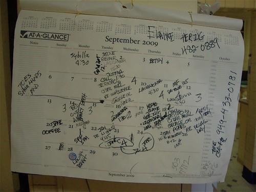 Marcia's busy calendar