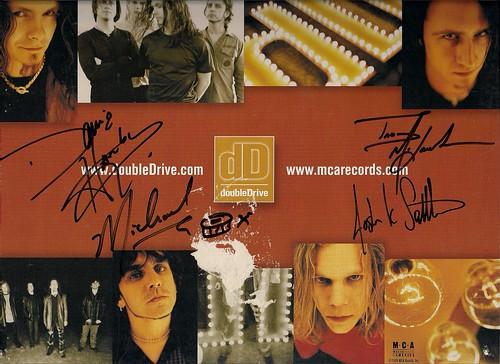 11/28/99 Queensryche/DoubleDrive @ St. Paul, MN (DoubleDrive Autographed LP Flat)