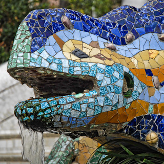 Spain - Barcelona - Parc Guell Lizard