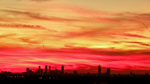 atlanta sunset red sky orange silhouette yellow skyline nikon cityscape p80 hevanmiller