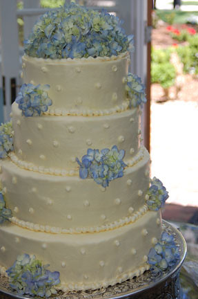 blue hydrangea wedding cakes dotted hydrangea wedding cake flickr photo 11991