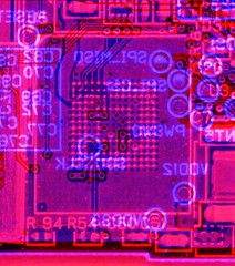 Under the NAND flash