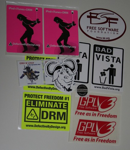 Free Software Foundation stickers #2