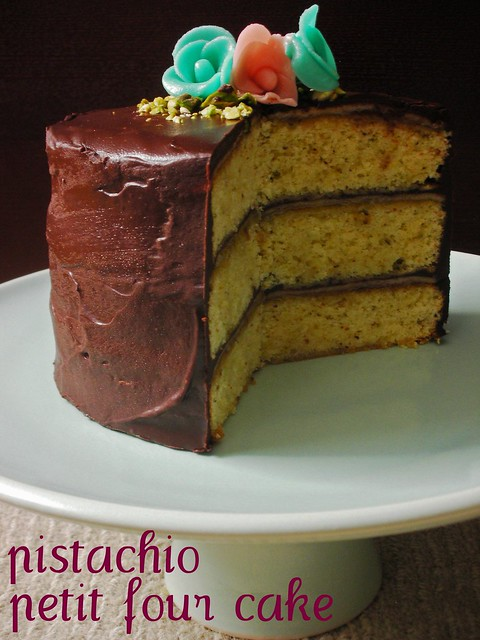 pistachio petit four cake | The Cake Slice (August 2009) awh ...