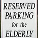 Reserved Parking for the Elderly