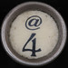 typewriter key @ 4
