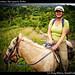 Kiet on a horse, San Ignacio, Belize