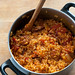 spanish rice with chorizo & pimentos