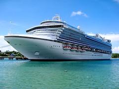 The Crown Princess docked at St Johns, Antigua.