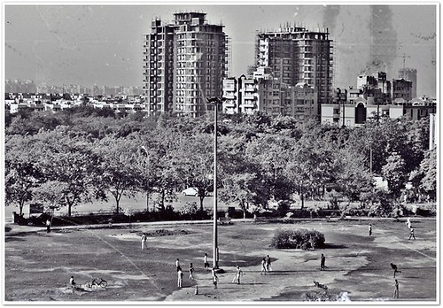park houses noida india buildings landscape apartments cricket uttarpradesh nikond3000 blackwhitephotosofindia