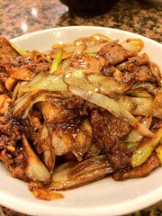 meal, vegetable, beef chow fun, meat, produce, food, dish, cuisine, chinese food,