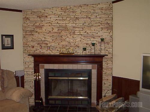 Stone Veneer Used Around Fireplace Stone Veneer Being Used