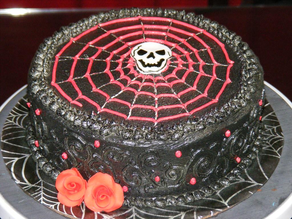Goth Birthday Cake A Photo On Flickriver