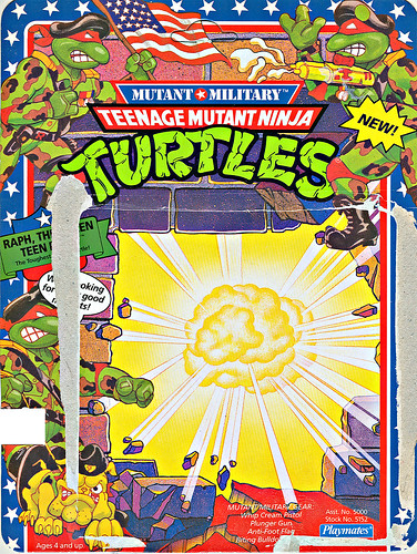 Mutant Military  TEENAGE MUTANT NINJA TURTLES :: RAPH, THE GREEN TEEN BERET  ..card backer i (( 1991 ))
