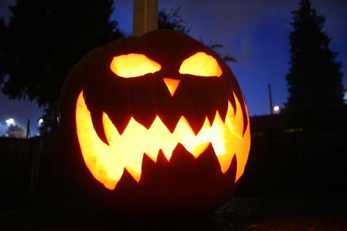 Scary Fiery Pumpkin