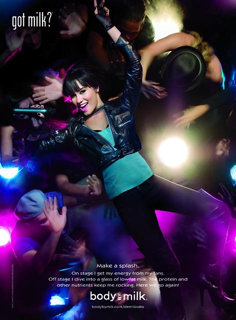 Demi Lovato Milk Mustache Ad