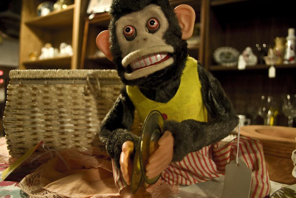 Scary Monkey Playing Cymbals