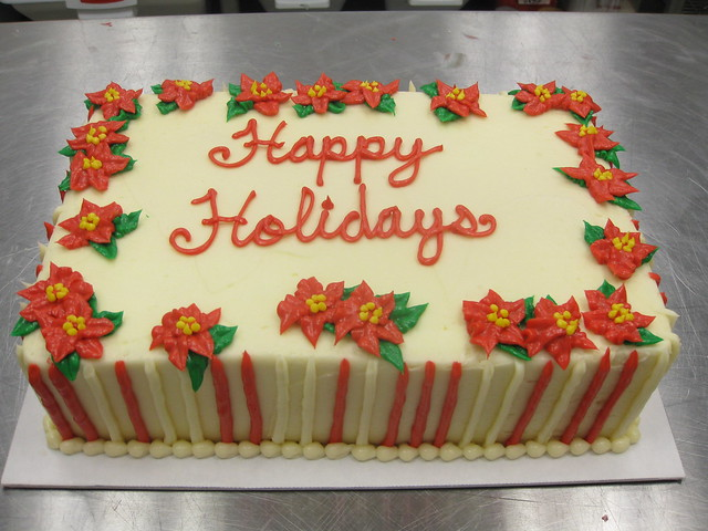 Poinsettia Cake Decoration