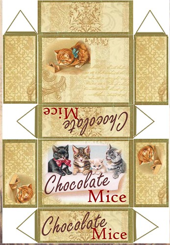 Chocolate mice recortable
