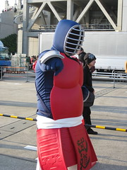 Cosplaying Big The Budo from Kinniku Man at Comiket 77