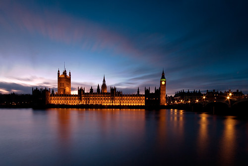 uk sunset england london clock thames night clouds river europe britain parliament bigben scene geo starburst westminister