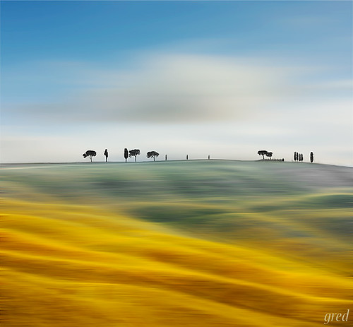 Surreal val d'Orcia