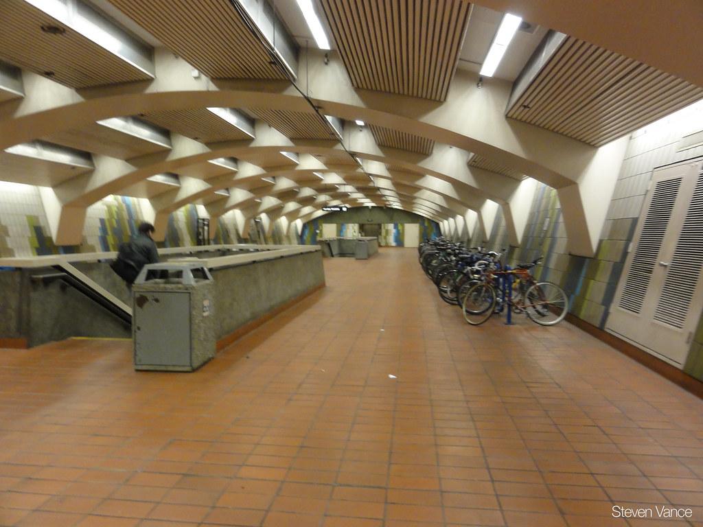 Indoor bike parking