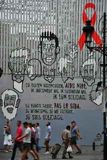 AIDS wall in Brussels
