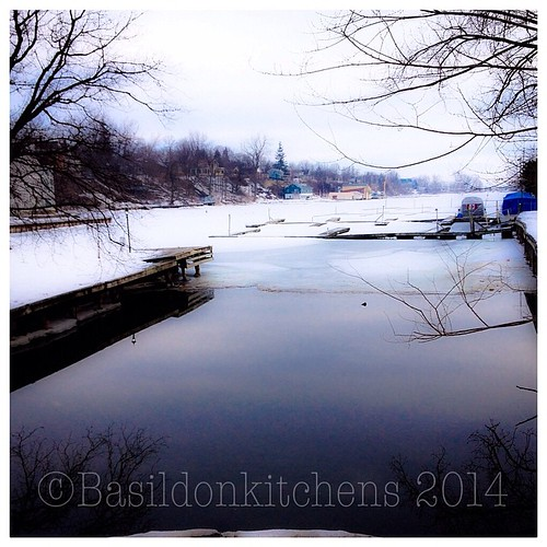 11/3/2014 - something good {ice is melting on the harbour; a sure sign of spring} #fmsphotoaday #somethinggood #picton #harbour #spring #winter #ice #water #dock #slips #princeedwardcounty