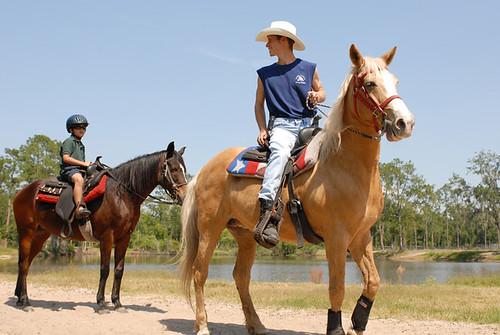 Riding at Horse World