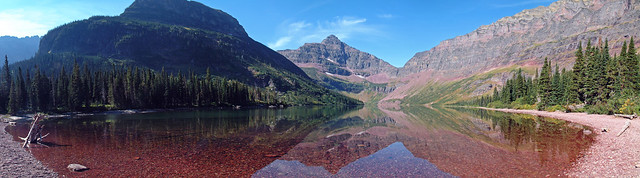 Upper Two Medicine Lake panorama, Glacier National Park