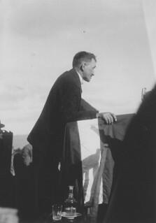 Sven Moren taler på Frosta (1930)