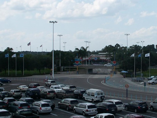Magic Kingdom Parking lot and Tram lanes to the TTC