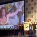 Jill Thompson accepting her Eisner