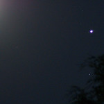 Moon, Jupiter, Ganymede, and Deneb Algedi