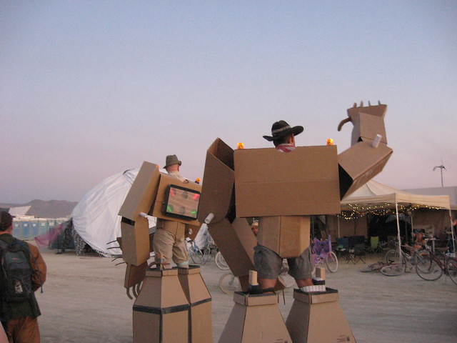 Cardboard Suit army at Burning Man 09