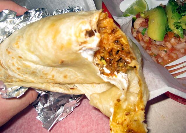 San francisco mission district taqueria el farolito super burrito