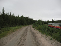 Inlandsbanan train form Arctic Circle