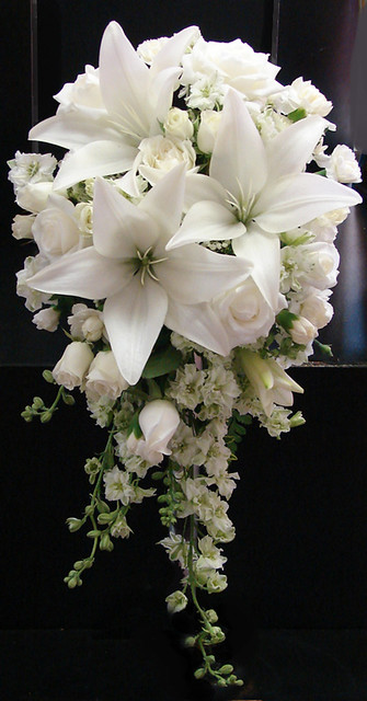 Wedding Flowers Lilies : White lily and rose wedding bouquet flickr photo sharing