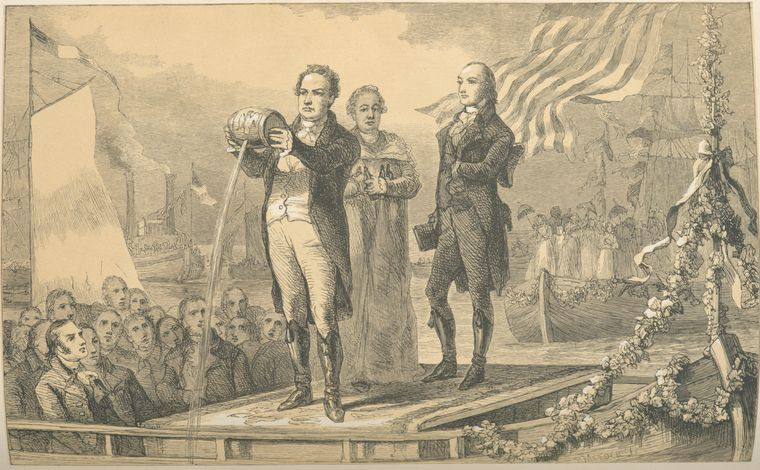 DeWitt Clinton [mingling the waters of Lake Erie with the At...