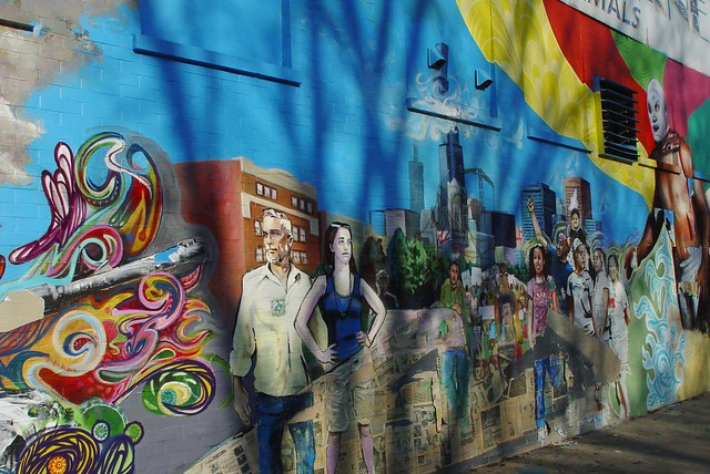 Wicker park mural art flickr photo sharing for Chicago mural group