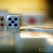 A Pair Of Dices On Mahjong Tiles by Randy Santa-Ana