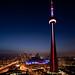 View to CN tower by Reza Vaziri