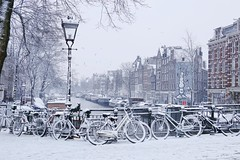 Hello Winter at the Prinsengracht in Amsterdam
