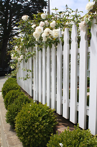 Beach cottage fence