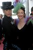 Leona Edmiston and Guest in the Myers Marquee