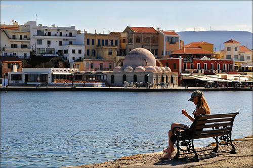 skyline with mosque of chania