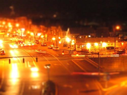 longexposure houses trafficlights cars night lights restaurant golden glow streetlights maine onramp headlights brunswick steeple business route1 taillights trafficsignals tiltshift mainestreet greatimpasta laneshift
