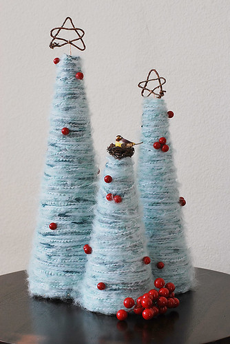Yarn Christmas trees
