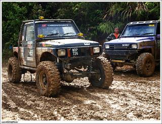Ranau 4x4 Challenge - Kampung Tagudon Lama Ranau - Suzuki 4x4 SJ Off road
